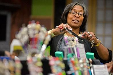 Regina Ferguson, of Aurora, helped the village of North Riverside usher in the holiday season by selling her one-of-a-kind pens from her company, R Functional Classics, during the recreation department's Holiday Bazaar on Nov. 4 at the Village Commons. | Alexa Rogals/Staff Photographer