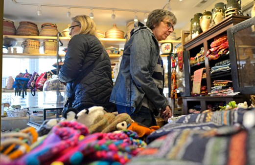 Connie Buczkowski, left, and Anita Hunt, both of Brookfield, browse different items for sale on Nov. 25, at Studio Beads and Trading Company during Small Business Saturday. | Alexa Rogals/Staff Photographer