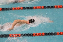 LTHS swimmer Henry Claesson is a top sprint and relays swimmer. Last season, he finished third in the 100 freestyle (45.58 seconds) at the IHSA State Meet. (Photo by Alison Credit)