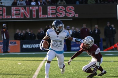 Michael Love (20) is one of several playmakers on the Roadrunners' star-studded roster. Nazareth finished second in the Class 6A state playoffs, losing 28-21 to Prairie Ridge in the final. (File photo)