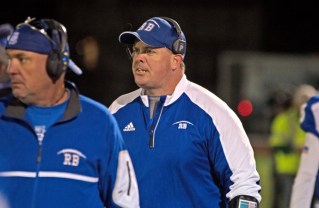 RBHS head football coach Brendan Curtin added a new job in 2017. The District 208 school board voted 6-0 in approval of Curtin as the school's new athletic director. (File photo)