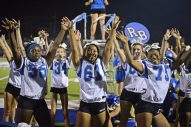 The RBHS Cheerleaders perform during the Riverside-Brookfield High School Homecoming 2017 on Sept. 22 at halftime of a Bulldog victory over Wheaton Academy. | Alexa Rogals/Staff Photographer