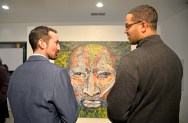 Art lovers packed the inaugural art opening at The Compassion Factory in Brookfield last week. The exhibition features the work of accomplished Chicago painter and muralist Oscar Luis Martinez. | Alexa Rogals/Staff Photographer