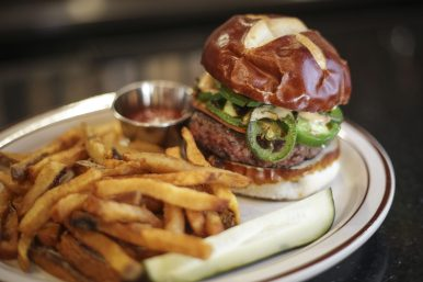 Burger Antics makes their burgers to order and believes delivery services like Door Dash compromise quality. (File)