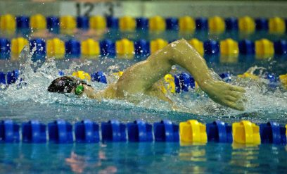 LT's Henry Claesson swims the 200-yard freestyle on Friday, Jan. 19, 2018, during a swim and dive meet at Lyons Township High School South Campus in La Grange, Ill. (Alexa Rogals/Staff Photographer)