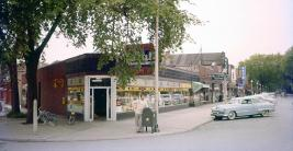 A new Facebook page for the Brookfield Historical Society has been featuring pictures, like the one of Grand Boulevard (that's Mylon Fisher in front of his drug store) in the 1950s. | COURTESY OF ALLEN GOODCASE