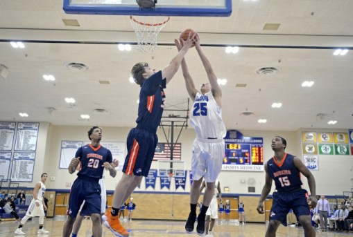 RBHS senior forward Jason Bageanis (#25) made all four of his 3-point attempts against Curie in the Curie Regional final of the Class 4A playoffs. The Condors won 67-59. (File photo)