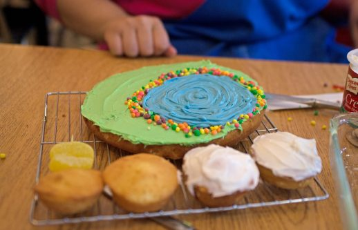 The 7th graders cake is seen in progress on May 16, during the annual cupcake war decorating competition at Komarek School in North Riverside. | Alexa Rogals/Staff Photographer