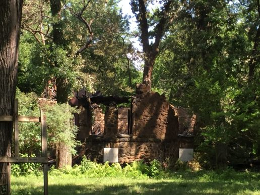 What's left of the south facade of 3744 Stanley Ave. after the fire (Bob Uphues | Staff)