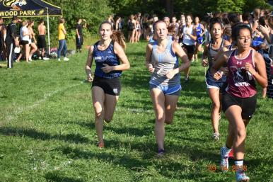 The Bulldogs' Nadia Kaczmarz earned eighth with a time of 20:26.5 over the three-mile course at Sundown Meadows. (Photo by John Keen)