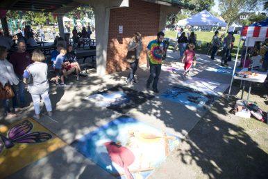 Sidewalk chalk art is seen on Sept. 22, during the annual Fine Arts Festival at Kiwanis Park in Brookfield. | Alexa Rogals/Staff Photographer