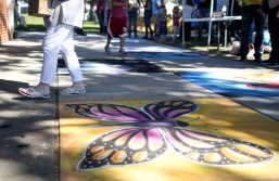 Colorful sidewalk chalk art done by artists are seen on Sept. 22, during the annual Fine Arts Festival at Kiwanis Park in Brookfield. | Alexa Rogals/Staff Photographer