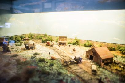 A diorama displaying Ogden Avenue in the mid 1800's is seen on Oct. 26, at the Grossdale Station Museum in Brookfield. | ALEXA ROGALS/Staff Photographer