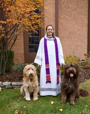 Dogs and humans are invited to the 0pening reception on December 1st at Doodle Art & Design at 4365 Lawn Avenue in Western Springs. Reverend Kate Spelman of All Saints Episcopal Church will be performing a Blessing of the Dogs.