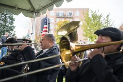 The West End Jazz Band performs on Nov. 3, during the Founder's Day event at Grossdale Station in Brookfield. | ALEXA ROGALS/Staff Photographer