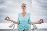 "Begin your work week by decompressing at ""Unwind at the Library: Meditation and Stretching"" under the direction of fitness instructor Cathy Kolessar at the North Riverside Public Library, 2400 Desplaines Ave."