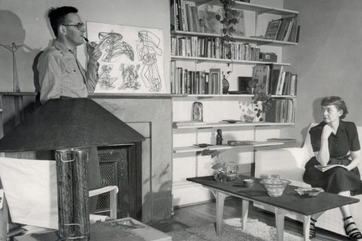 Michael and Frances Higgins (above) started Higgins Glass in their apartment in 1948 before buying the Riverside studio space in 1970. | Photo provided