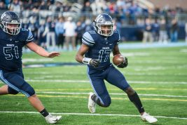 Nazareth senior Diamond Evans caught four passes for 83 yards, including a 61-yard TD reception in the Roadrunners' 31-10 win over St. Charles North. (File photo)