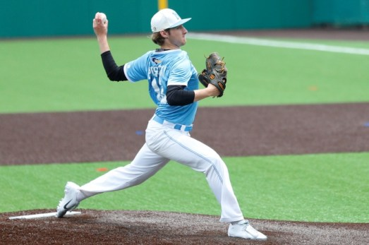 Nazareth left-handed pitcher Michael Prosecky anchored a deep pitching rotation for the Roadrunners. (Courtesy Nazareth Academy)