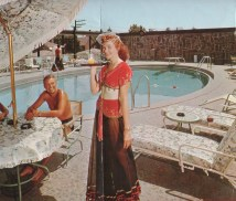 Though smaller in scope, Sahara South had a similar Arabian theme, costumed cocktail waitresses serving poolside. (Courtesy of Phil Mercurio)