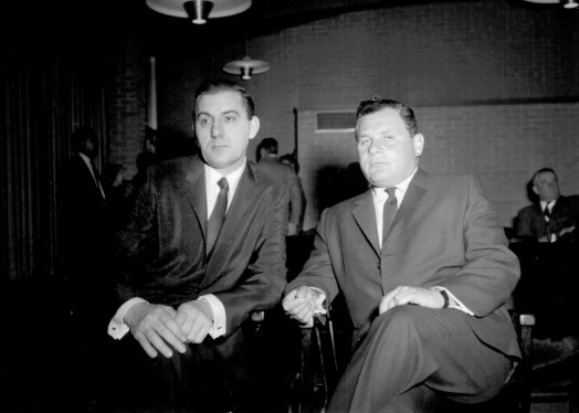 In mid-December 1964 Manny Skar (above right) appeared in federal court with his lawyer, Arthur Nasser (left), after being indicted for income tax evasion. Just two weeks later, on Dec. 31, the state would seize Marshall Savings and Loan. | Photo Courtesy Liz Faron collection