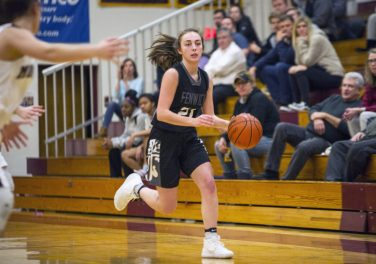Fenwick senior guard Maggie Van Ermen earned all-conference recognition in the GCAC Red this season. (Alexa Rogals/Staff Photographer)