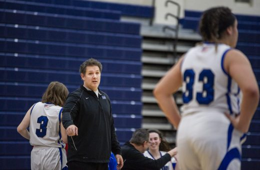 Head coach Dallas Till has established a winning program at RBHS. Teamwork, fundamentals and hustle are staples of success for the Bulldogs. (Alexa Rogals/Staff Photographer)