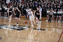 Nazareth Academy senior Annie Stritzel scored a game-high 36 points in the Roadrunners' 46-37 win over host Fenwick in a Class 3A sectional final on Friday, Feb. 20. (Photo by @scotchindian)