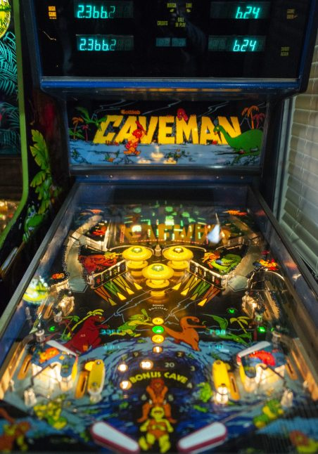 An antique Caveman pinball game is seen on March 2, during the opening night of Galloping Ghost's Pinball Arcade on Ogden Avenue in Brookfield. | ALEXA ROGALS/Staff Photographer