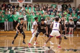 Fenwick sophomore Bryce Hopkins (#23) averaged 22 points and 6.5 rebounds in a breakout season for the 6-foot-5 forward. Hopkins also earned All-Chicago Catholic League recognition. (Photo by @scotchindian)