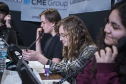 Student volunteers work on calling and answering phones for donations on March 9, during the annual RBTV Telethon at Riverside Brookfield High School. | ALEXA ROGALS/Staff Photographer