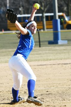 RBHS junior Nadia Ranieri is the Bulldogs' top pitcher and also a solid hitter in the lineup. (Photo by Toan Ngo)