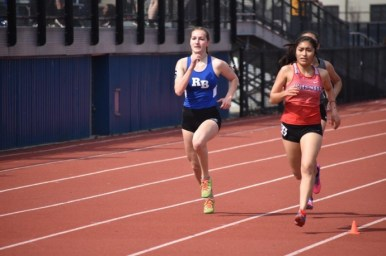 RBHS senior Nadia Kaczmarz recorded a fifth-place time of 5:44.84 in the 1,600 at the Metro Suburban Conference meet. (Photo by John Keen)