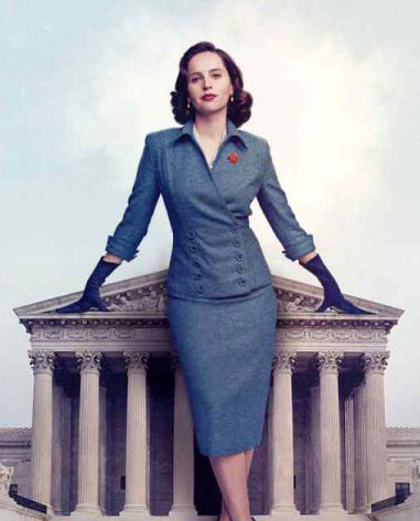 """Felicity Jones as Ruth Bader Ginsberg in """"On the Basis of Sex"""""""