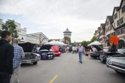 The water tower is seen from the event on Thursday, June 20, at the first night of the Cruise Nights event in downtown Riverside, Ill. | ALEXA ROGALS/Staff Photographer