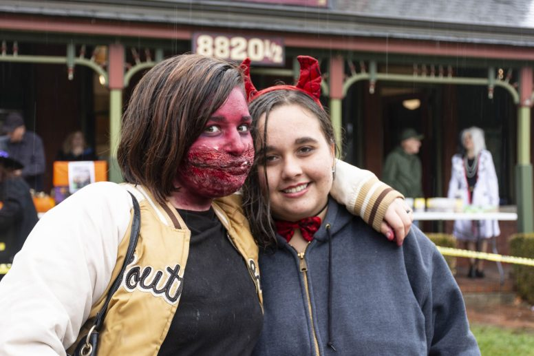 Heavy rains cut short the annual Monsters on Mainstreet event in downtown Brookfield on Oct. 26, but the Halloween-themed gathering still drew about 700 people, according to organizers, who decided to forego the costume contest at the Grossdale Station. (April Alonso/Contributor)