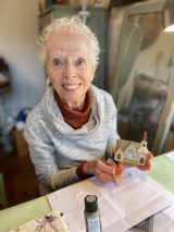 Gretchen McCarthy specializes in detailed depictions of local landmarks and homes. (Bob Uphues/Editor)