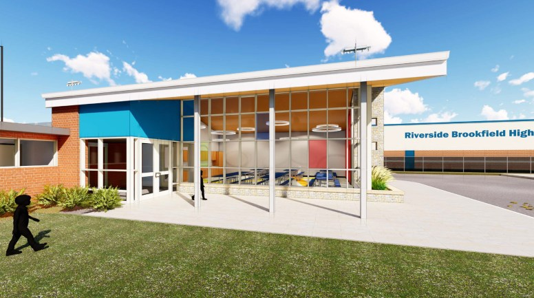 A multipurpose room addition at Hollywood School would serve as a lunchroom and house music classes and space for indoor recess and all-school events.(Provided)