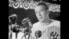 """North Riverside Public Library's Films by Phone conversation will be about """"Pride of the Yankees,"""" starring Gary Cooper, Teresa Wright, Walter Brennan and Babe Ruth."""