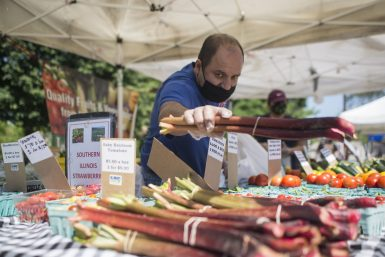 The Riverside Farmers Market is open for business every Wednesday from 2:30 to 7 p.m. in Centennial Park through Oct. 7.
