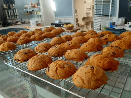 Light and airy pumpkin dark chocolate cookies are a seasonal specialty at Cafe Tere. (Melissa Elsmo/Food Editor)