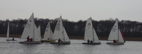A fleet start race 2 Club winter regatta