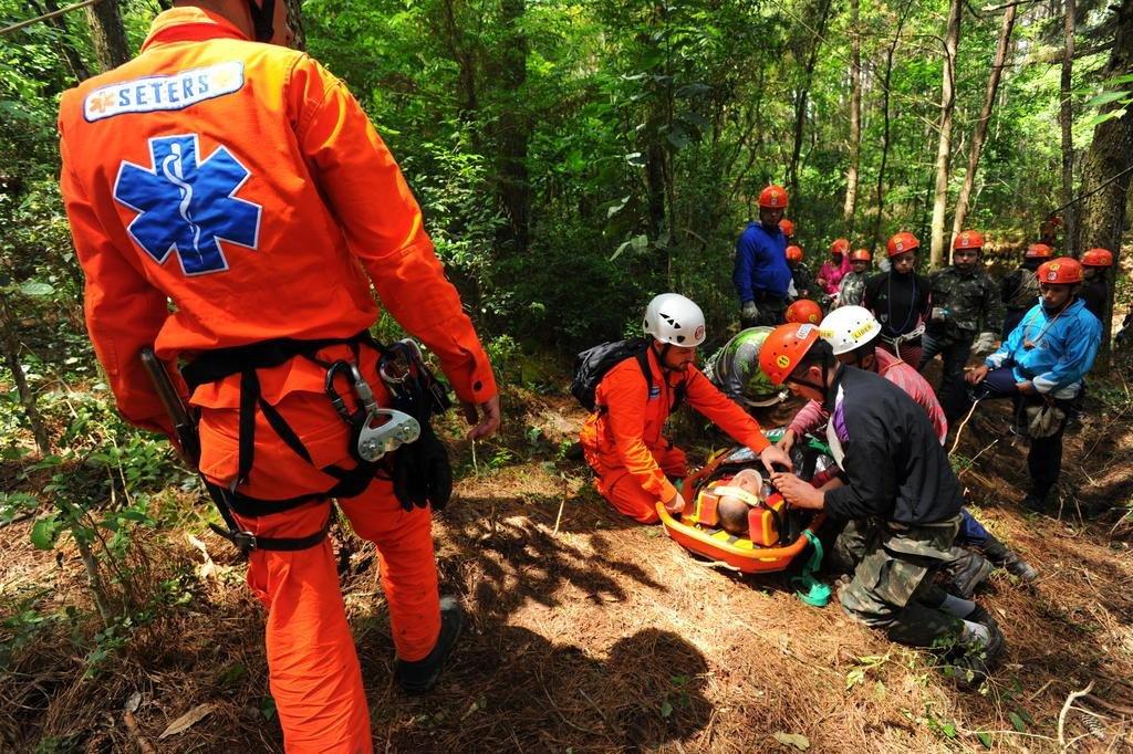 Itaara, RS, Brasil, 07/10/2017.Curso de atendimento e resgate de vítimas em áreas de difícil acesso.