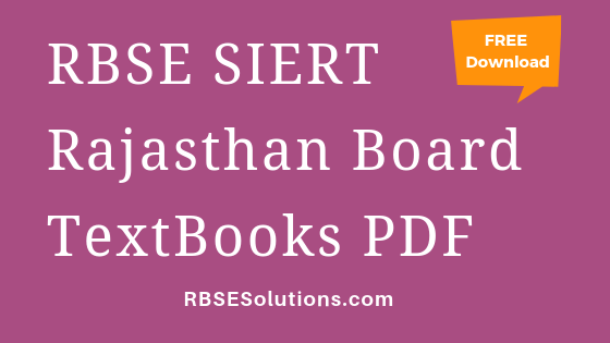 RBSE Rajasthan Board Books PDF Free Download in Hindi & English Medium