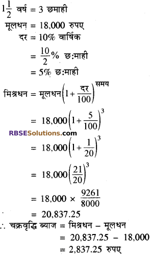 RBSE Solutions for Class 8 Maths Chapter 13 राशियों की तुलना Ex 13.3 Q6A