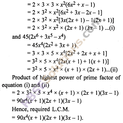 RBSE Solutions for Class 10 Maths Chapter 3 Polynomials Ex 3.6 4