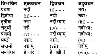 RBSE Class 6 Sanskrit व्याकरण शब्द-रूप प्रकरणम् 16