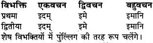 RBSE Class 6 Sanskrit व्याकरण शब्द-रूप प्रकरणम् 31