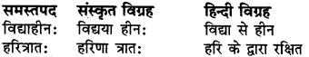 RBSE Class 6 Sanskrit व्याकरण समास 3