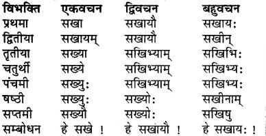 RBSE Class 7 Sanskrit व्याकरण शब्द रूप प्रकरणम् 5